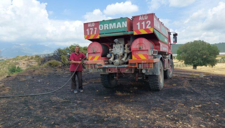 Antalya'da anız yangınında 20 dönüm tarım arazi zarar gördü