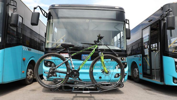Bisiklet taşıma aparatlı otobüslere sensör uygulaması