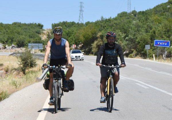 Bisikletle Türkiye turuna çıktı