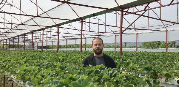 Çiftçiye örnek olmak için sera kurdu