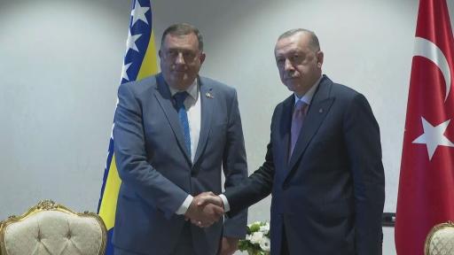 Cumhurbaşkanı Erdoğan, Bosna Hersek Devlet Başkanlığı Konseyi üyeleri ile görüştü.