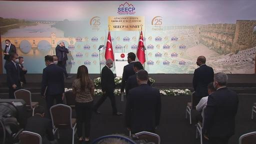 Cumhurbaşkanı Erdoğan, Güneydoğu Avrupa İşbirliği Süreci Zirvesi'nde konuştu.