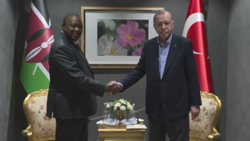 Cumhurbaşkanı Erdoğan, Kenya Cumhurbaşkanı Uhuru Kenyatta ile görüştü