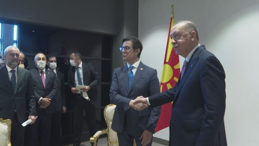 Cumhurbaşkanı Erdoğan, Kuzey Makedonya Cumhurbaşkanı Stevo Pendarovski ile görüştü.