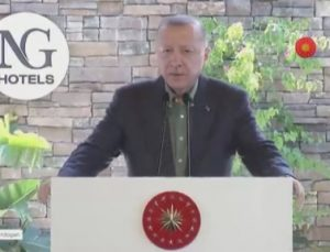 Cumhurbaşkanı Erdoğan, NG Phaselis Bay'ın açılış töreninde konuştu.