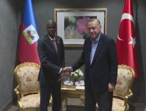 Cumhurbaşkanı Recep Tayyip Erdoğan, Haiti Cumhurbaşkanı Jovenel Moise ile görüştü.