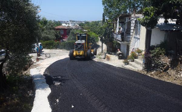 Kestel Barcın sokak asfaltlandı