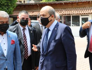 """KKTC Cumhurbaşkanı Tatar: """"Türkiye ile bağımızın koparılmasına asla müsaade etmeyiz"""""""