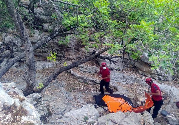 Likya Yolu'nda erkek cesedi bulundu
