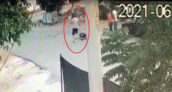 Makaslı galerici cinayeti kamerada