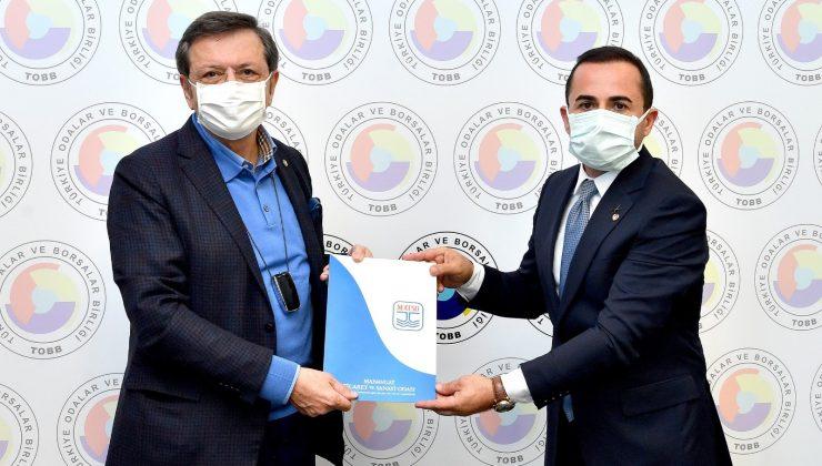 MATSO Yönetimi, Başkan Hisarcıklıoğlu'na üyelerinin taleplerini iletti