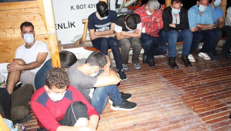 (Özel) Antalya'dan Kıbrıs'a geçmeye çalışan 18 göçmen yakalandı
