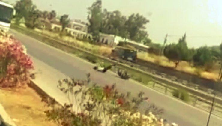 (ÖZEL) Çalıntı motosikletle trafiği birbirine kattı, ters yöne girip kaza yaptı