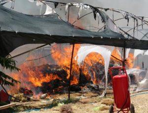 Seradaki yangın güçlükle söndürüldü; işçiler gözyaşı döktü