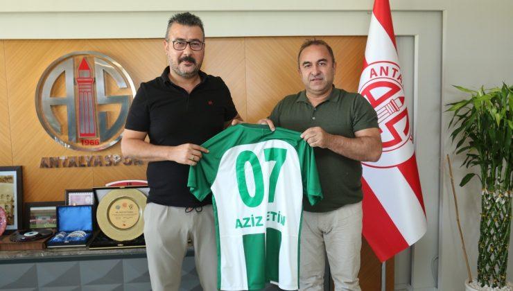 Serik Belediyespor, Antalyaspor Başkanı Çetin'le bir araya geldi