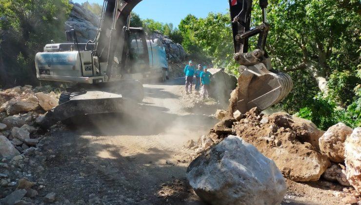 Söğüt Yaylası ve Çamlıca grup yolunda asfalt çalışması