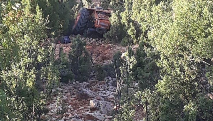 Traktör uçuruma yuvarlandı: 2 yaralı