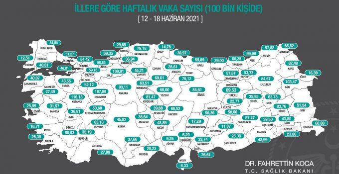 Turizm merkezi Antalya'da vaka sayısındaki düşüş sürüyor
