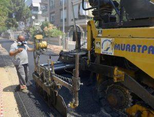 Üçgen'de asfaltlama çalışmaları son sürat