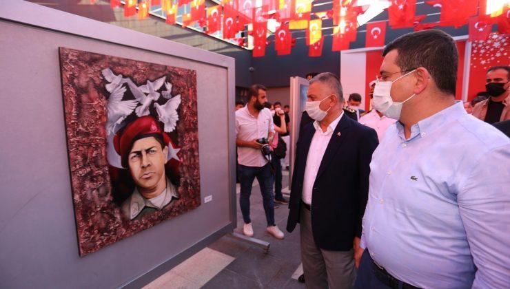 15 Temmuz sergisi 600 eserle Dokumapark'ta açıldı