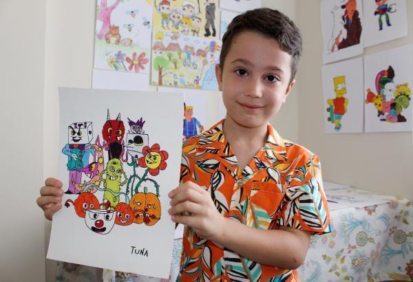 3 yaşında karikatür çizmeye başlayan Tuna, yurt dışından eğitim teklifi aldı