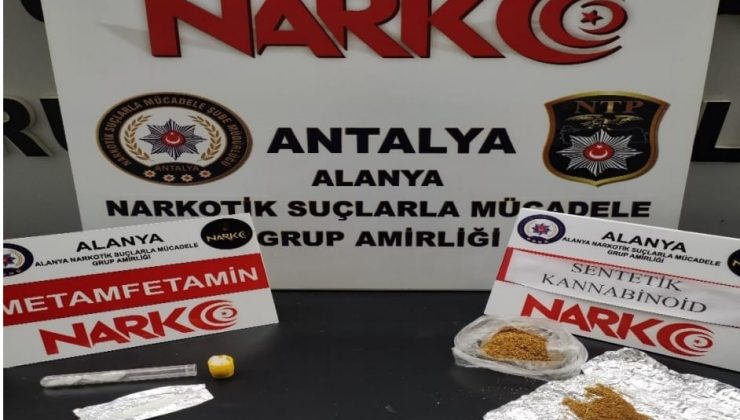 Alanya'da uyuşturucu operasyonu: 2 gözaltı
