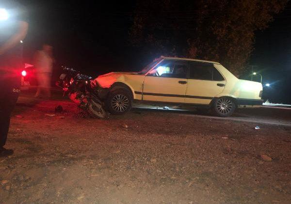 Anne ve çocuğu kazada yaralandı