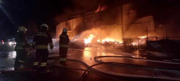 Antalya OSB'de plastik fabrikasında yangın/ Ek fotoğraflar