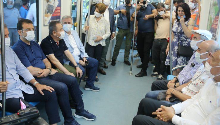 Antalya'da 3. Etap Raylı Sitemin test sürüşü CHP'li 10 büyükşehir belediye başkanının katılımıyla başladı