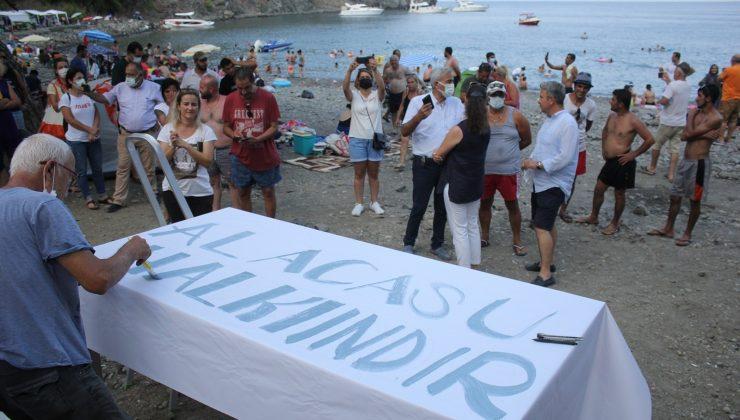 Antalya'da Alacasu Koyu eylemi