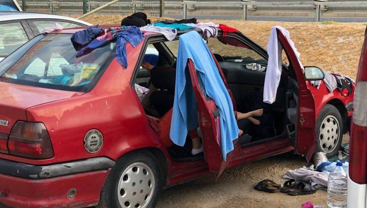 Antalya'da halk plajını çadır kente çevirdiler, trafiği kilitlediler