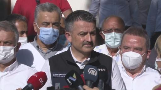 "Bakan Pakdemirli: ""Manavgat'taki yangında 4 mahalle tahliye edildi"""