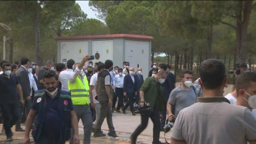 Cumhurbaşkanı Erdoğan, Manavgat Ulualan Yangın İzleme ve Kontrol Merkezinde incelemelerde bulundu