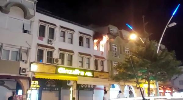 Dairedeki yangın vatandaş ve itfaiye müdahalesiyle söndürüldü