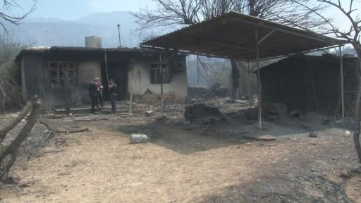 Dumandan etkilenerek hayatını kaybeden yaşlı çiftin evi görüntülendi