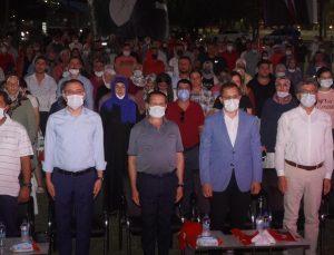 Finike 15 Temmuz Milli İrade Meydanı'nda demokrasi nöbeti
