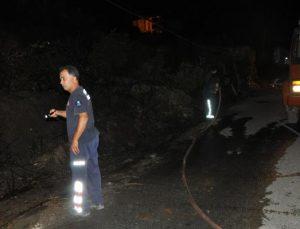 Gazipaşa'da çalılık yangını