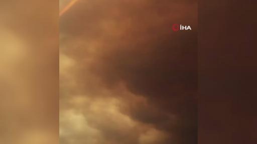 Gökyüzü dumanla kaplandı