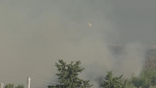 Haytalar'da 5 helikopter ve 1 uçakla müdahale edilen yangın kısmen kontrol altına alındı