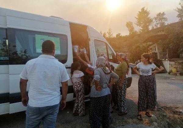 İTÜ ETA Vakfı Doğa Koleji Antalya kampüslerinden Manavgat'a destek