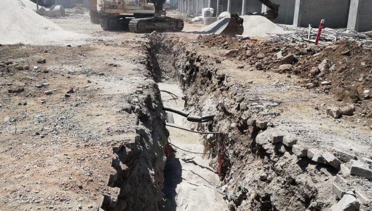 Kemer'de yeni sanayi sitesi  için kanalizasyon çalışması