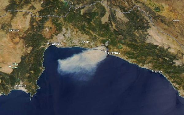 Manavgat'ta 4 ayrı noktada orman yangını/ Ek fotoğraf