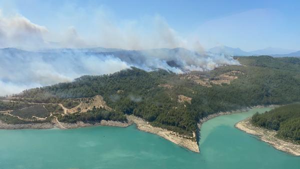 Manavgat'ta 4 ayrı noktada orman yangını/ Ek fotoğraflar