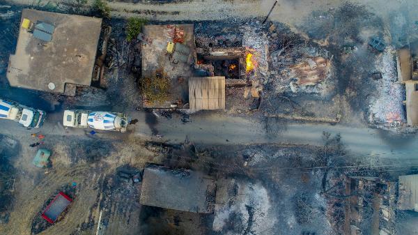 Manavgat'ta 4 ayrı noktada orman yangını /Ek fotoğraflar