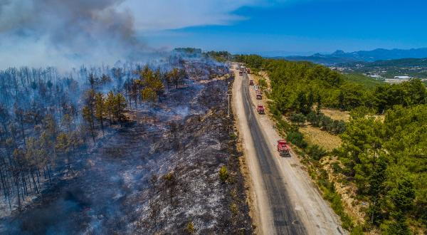 Manavgat'taki büyük yangın 3'üncü gününde/ Ek fotoğraflar