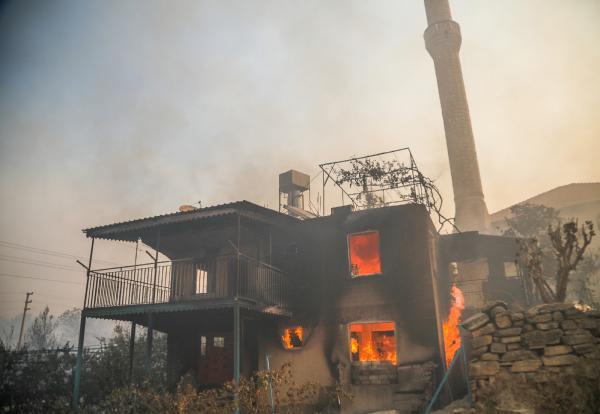 Manavgat'taki büyük yangında 2'nci gün; 1 ölü/ Ek fotoğraflar
