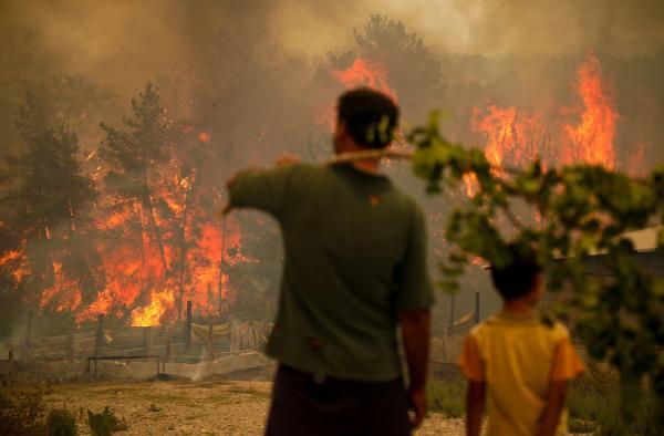Manavgat'taki büyük yangında 2'nci gün; 3 ölü (16)