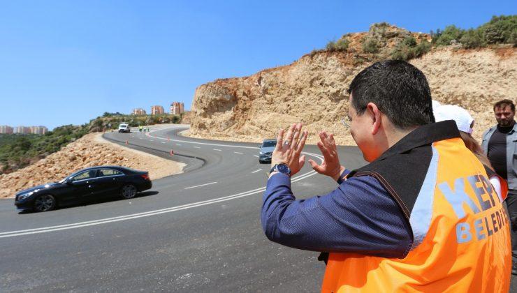 Masa Dağı bölgesine açılan yol trafiği rahatlattı