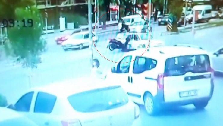 Motosiklet sürücüsünün feci ölümü güvenlik kamerasında
