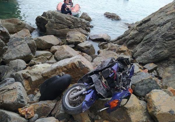 Motosikletiyle 180 metrelik uçurumdan yuvarlanan sürücü öldü